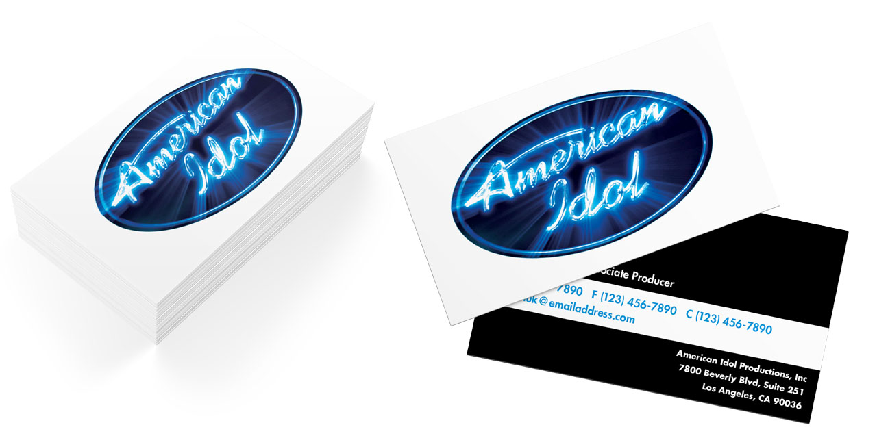 American Idol Business Cards